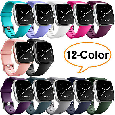 Replacement Silicone Sport Band Bracelet Strap For Fitbit Versa 2 Small/Larger