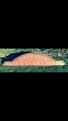 Large Pub Sign Bar And Family Rooms Wooden Entrance Vgc
