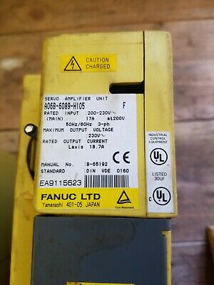 FANUC SERVO AMPLIFIER # A06B-6089-H105 Used Removed from running machine.