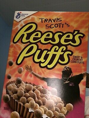 Travis Scott's Reeses Puffs Cereal Box - Special Edition, Astroworld Cactus Jack
