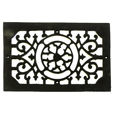 Rectangular Register Cast Iron Floor Grate Heating Vent Circular Design