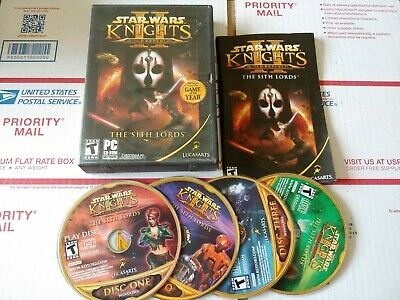 Star Wars Knights of the Old Republic II Sith Lords PC Game 2005 Complete