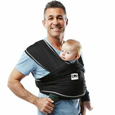 Baby K'tan Active Baby Wrap Carrier Infant and Child Sling-Black S W Dress 6-...