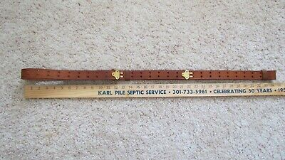 Repro WWI US M1907 (marked CS 1917) russet leather rifle sling w/ brass hooks.