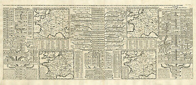Antique Map-FRANCE-MONARCHY-ROMAN EMPIRE-GENEALOGY-Chatelain-1732