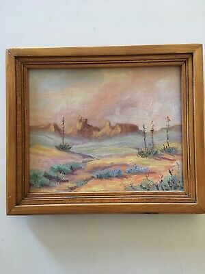 Lucille Roser Original Oil On Canvas, Signed. Arizona Landscape