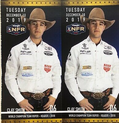 2 National Finals Rodeo Tickets NFR Low Balcony Tuesday Dec 10th 12/10/19 222 E