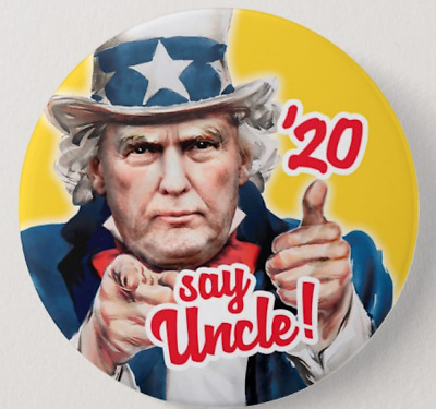 Trump 2020 Political Button Republican Uncle Sam Thumbs Up Great Item