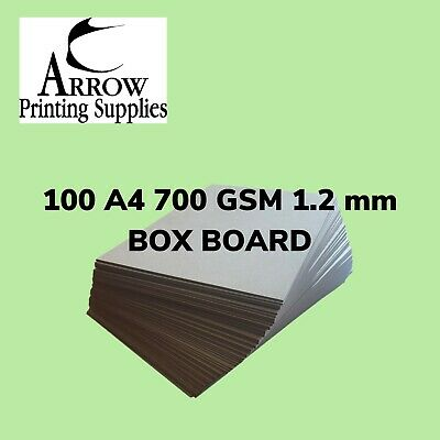 Boxboard A4 700GSM 1.2mm thick Backing Boards  Recycled  - Pack of 100