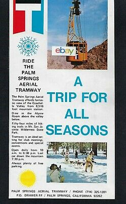 Palm Springs Aerial Tramway Mt San Jacinto 8,500 Ft 1971 Trip For All Season Ad