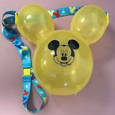Disney Park Disneyland Mickey Mouse YELLOW Balloon Souvenir Popcorn Bucket