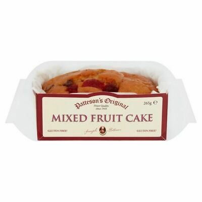Patteson's Gluten Free Mixed Fruit Loaf Cake 285g