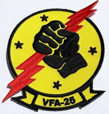"""VFA-25 """"Fist of the Fleet"""" Squadron Patch – Plastic Backing"""