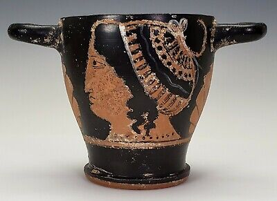 Ancient Greek / South Italian Apulian Red Figure Painted Pottery Vessel