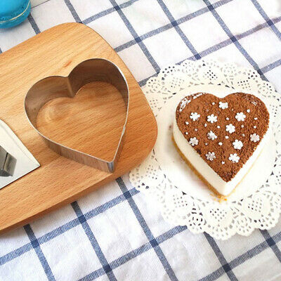 12pcs Pastry Stencils Stainless Steel Nonstick Baking Mould Reusable Star Heart