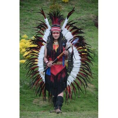 Indian Tribal Chief Wing Apache Warbonnet Native American Halloween Headdress