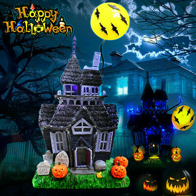 Halloween Spooky Haunted House Flashing Lights Sound Motion Sensor Decor Hot a