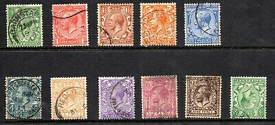 1912-24 George V Selection of 10 to 9d plus 1 inv wmk Royal Simple Cypher Used