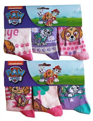 Nickelodeon Paw Patrol Skye and Everest socks for girls in a pack of 6 NEW
