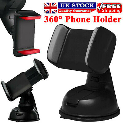 360 In Car Mobile Phone Holder Mount Windscreen Dashboard Suction Home Universal