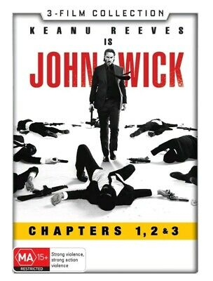 John Wick 3 film Collection - Chapters 1, 2 & 3 (DVD, 2019) NEW! Sealed! R4
