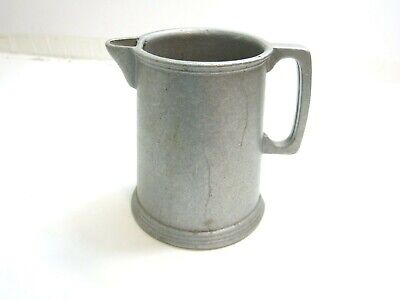 """Vintage Wilton Rwp Armetale Pewter (??) Large 7 1/2"""" Tall Water Pitcher Unmarked"""