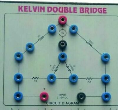Kelvin Double Bridge Experimental Laboratory equipment Free shipping world wide