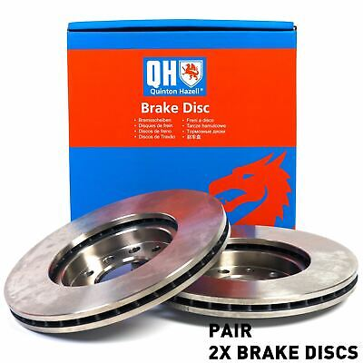 Pair Vented Front 08 to 17 296mm Set QH VAUXHALL INSIGNIA A 1.8 2x Brake Discs