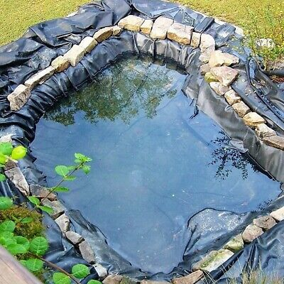 8-10ft Fish Pond Liner Garden Pool HDPE Membrane Reinforced Landscaping Black UK