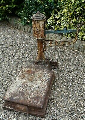 Vintage Cast  Iron Scales. Old Garden Feature. Planter Base
