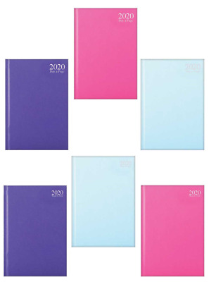 2020 Year Diary A6 Page A Day & Week To View Fashion Colours Hardback Cover TAL