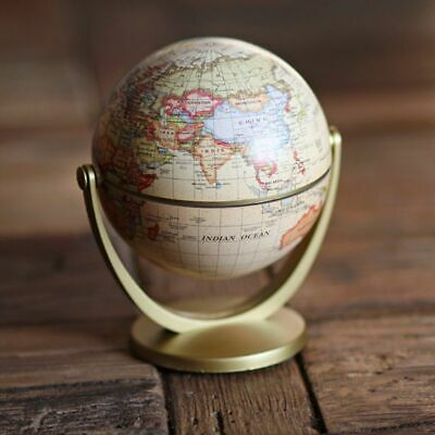 Vintage English Edition Globe World Map Decor arth Globes with Base Geographys