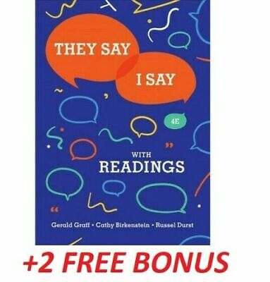 🎁 They Say I Say 4th Edition by Gerald Graff ✅ ✔️ [E-Version] ✔️ FAST DELIVERY