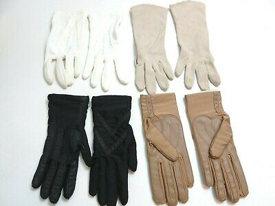Lot Of 4 Pairs Vintage Ladies Gloves - New Isotoner, New Finale And 2 Other Pair