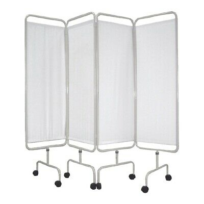 Bolero Mobile Medical Privacy Screen with Coated Steel Frame Castors - Y188