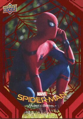 Spiderman Homecoming Red Foil [199] Base Card #26 Phoning Home