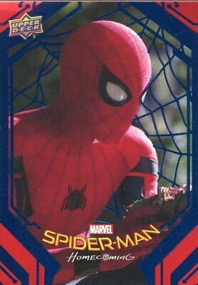 Spiderman Homecoming Blue Foil [99] Base Card #25 Battery Left Behind