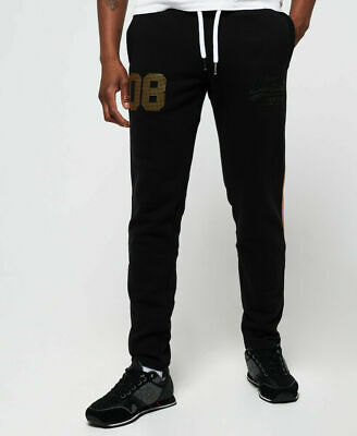 New Mens Superdry Vintage Logo CNY Joggers Black