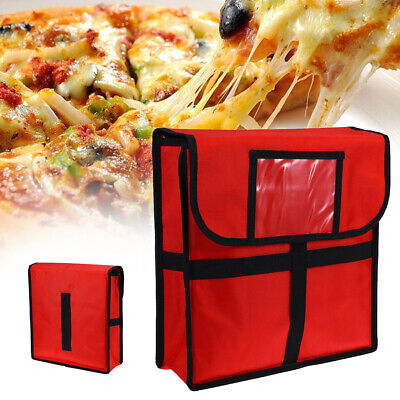 11 inch Pizza Delivery Bag Red Insulated Thermal Food Storage Holder Holds Pizza