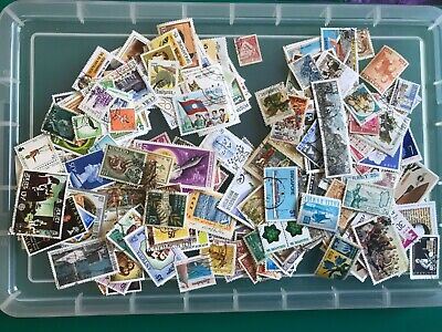 250 World Stamps, Unsorted Off Paper , (C1)
