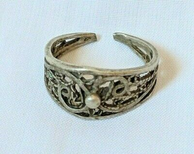 Ancient Antique Roman Ring Metal Color Silver Artifact Very Old Extremely Rare