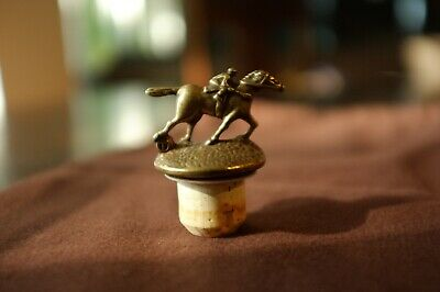 "Letter ""T"" Blanton's Single Barrel Bourbon Cork Horse Stopper RARE"