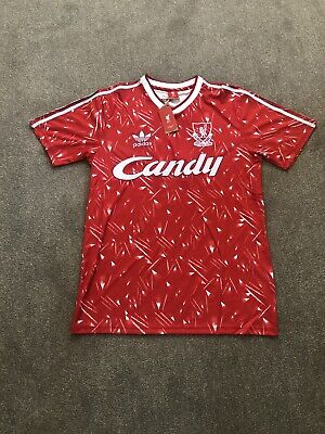 In stock BNWT LARGE XXL Liverpool Home Retro Shirt 1989 1991
