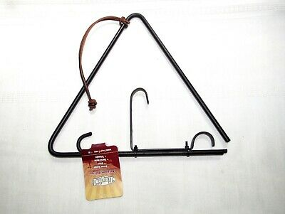 Classic Country Western, Farm Ranch, Rustic Style Triangle Dinner Bell & Ringer