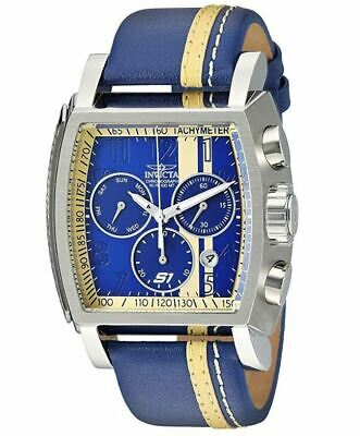 Invicta S1 Rally Race Team 48mm Blue Leather Z60 Swiss Chronograph Watch 26396