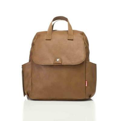 Babymel Convertible Backpack Robyn Faux Leather Baby Changing Bag Tan Vegan New