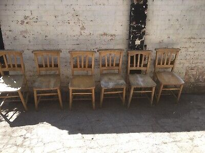 Church/chapel Chairs Named And Dated X 6