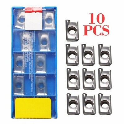 10pcs APKT1604PDFR-MA3 H01 Milling Carbide Inserts Blades For Aluminum Copper