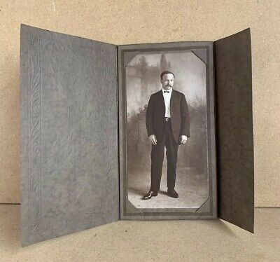 Antique Old Photo Photograph of a Cross-eyed Man Late 1800's Odd Weird Unusual