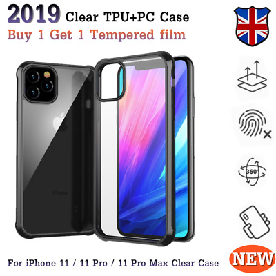 Clear Shockproof Case For iPhone 11/11 Pro Max Mosafe Bumper Hybrid Slim Cover